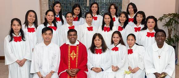 Father Valan Together with St. Peter's Choir Group