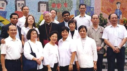 With Bishop Joseph Zen in Saint Edward's, Lam Tin